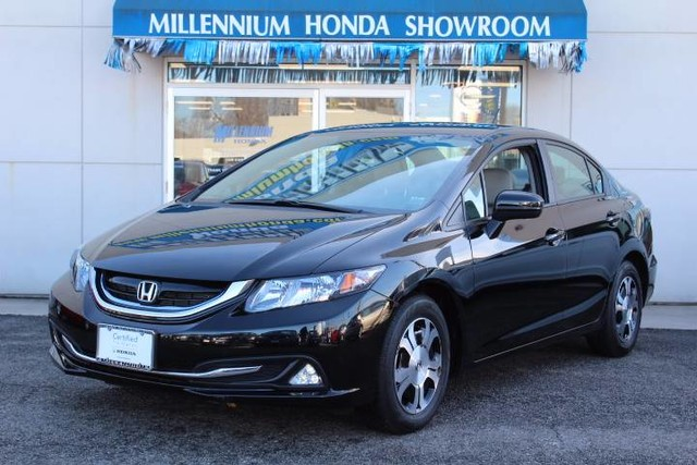 Certified pre owned 2015 honda civic hybrid 4dr sdn l4 cvt for Certified used honda civic